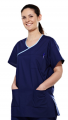 MM88010 Reversible Scrub Top with Contrast Trim