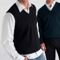 Biz V-Neck Woolmix Vest WV6007
