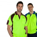 JBs workwear HiVis Panel Short-Sleeve Polo 6APHS